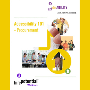ebook logo for Accessibility 101 Procurement