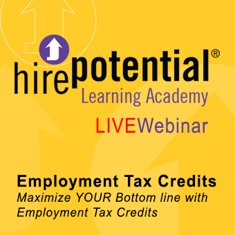LIVE Webinar Employment tax credits