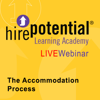 LIVE Webinar The AccomodationProcess