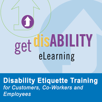 graphic image of the disability etiquette training course